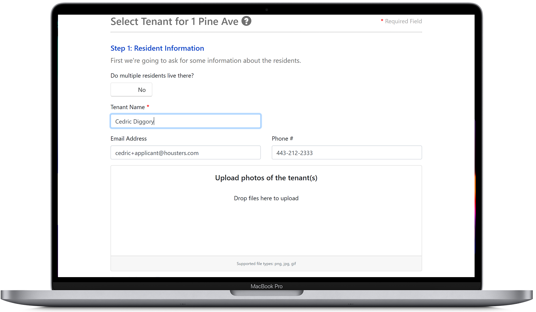 Select an applicant and convert them into a tenant