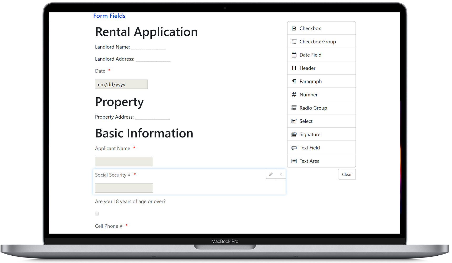 Create a custom online application form
