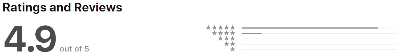 Housters mobile is the best property management app, with a 4.9 app store rating